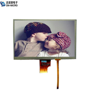 shenzhen supplier 7 inch resistive touch screen with 4 wire interface