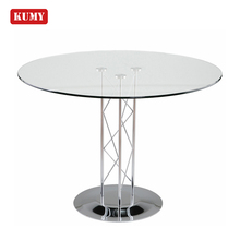 2018 newest Modern Style Luxury Round 10 seater crystal mirrored 다기능 Metal base 12 미리메터 강화 (gorilla Glass) <span class=keywords><strong>식사</strong></span> 표