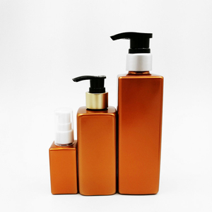 Square shape plastic bottle for body oil spray