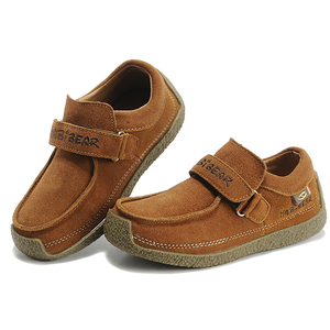 HOBIBEAR 2018 german leather dress loafers boys casual flat pump shoes