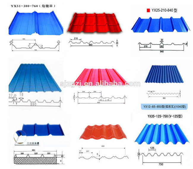 Gi Pre Painted Sheet Corrugated Roofing Metal 26 Gauge