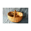 wholesale wicker gift basket for home decorations with handle egg basket supplies