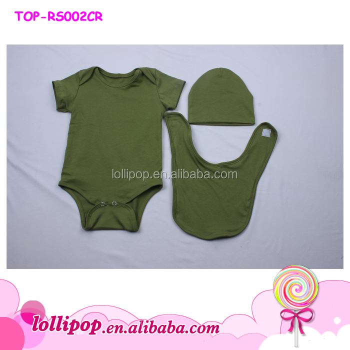 157c40821437 2018 Toddler clothing olive green new design romper wholesale boutique girls  clothes short sleeves onesie baby