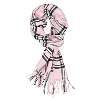 Plaid Cashmere Feel Classic Soft Luxurious Cashmere Scarf Plaid Infinity Scarf For Men Women