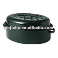 19 Inch Granite Ware Covered Oval Roaster