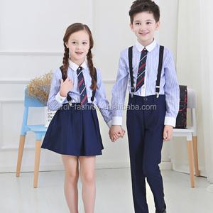 2017 fashion boys and girls school uniform tracksuit