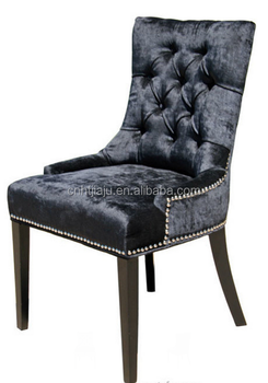 Black Fabric Dining Chair With Silver Nail Head /dining Chairs With  Armrests - Buy Dining Chairs With Armrests,Fabric Dining Chair With Silver  Nail ...
