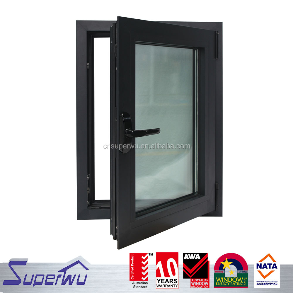 Australia standard anodized aluminium double galzed tilt and turn windows with as2047 certificates