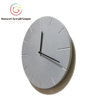 Handmade Concrete 12 Inches Hanging Genuine Cement Wall Clock Buy