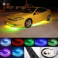 7 Color Wireless Remote RGB LED Strips under Car Neon Lights Underbody Lights Kit