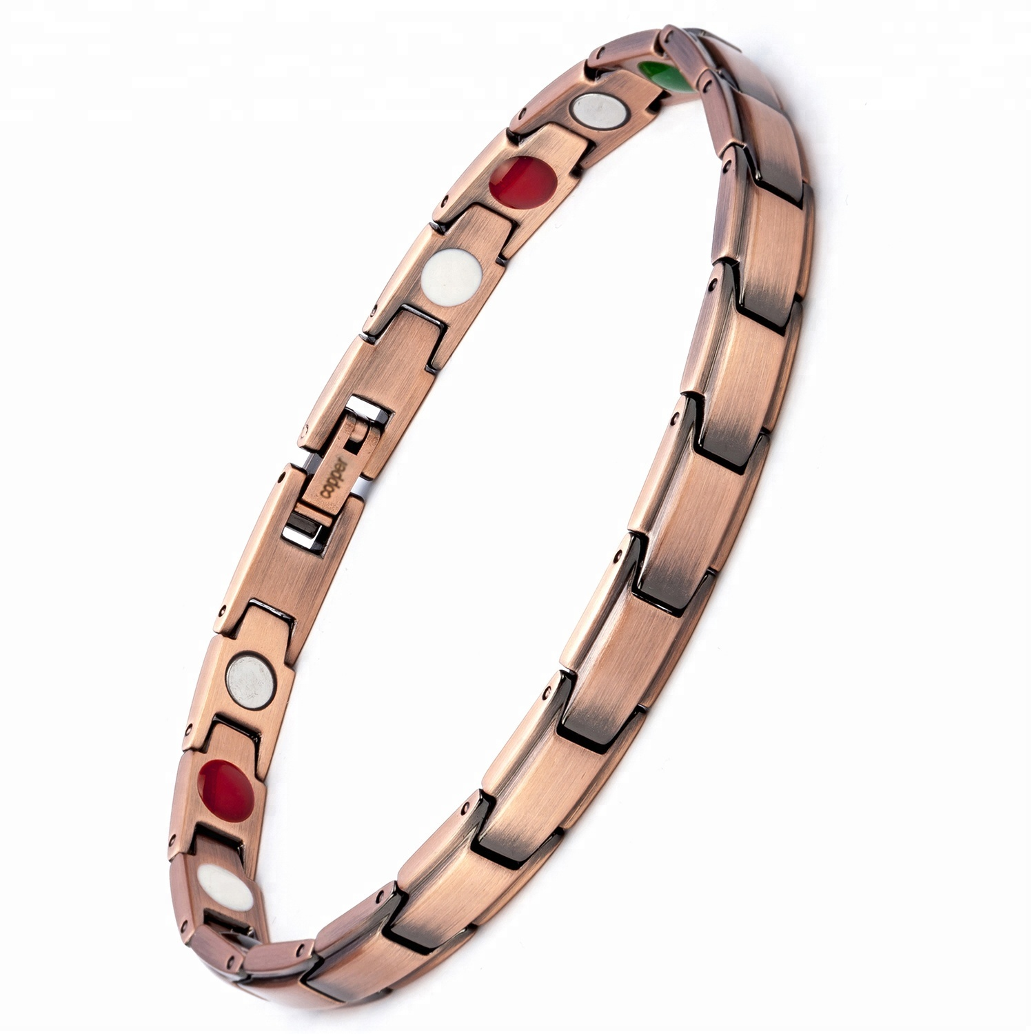 Shenzhen Migaga Magnetic Therapy 316L Stainless Steel Full Magnets Or 4 In 1 Accept Custom Colors Bracelet Women