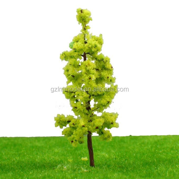 6.5cm R6524 Top selling Yellow green pagoda tree for architectural model tree/for Train Layout