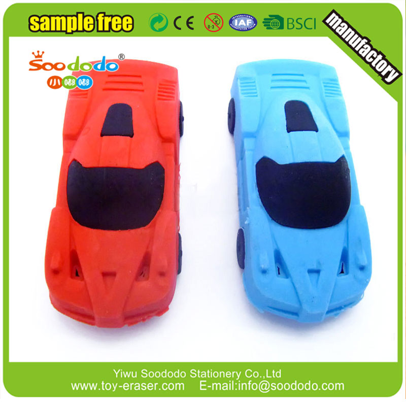 Cool New Design 3D Car Shaped Rubber Toy Erasers
