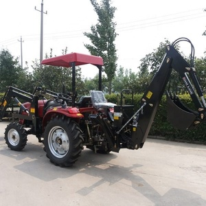 Chinese manufacturer best price NEW 4wd farm compact tractor 3 point PTO Mounted Towable Hydraulic Backhoe attachment for Sale
