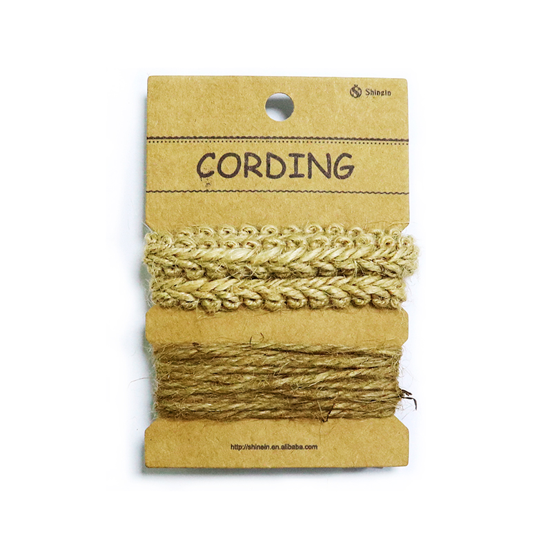 Wholesale Multi-packed Jute Twine Rope and Hemp Rope Trim On the Card