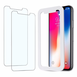 Easy Application Bubble Free Japanese Tempered Glass Screen Protector with applicator for iPhone X Fast Delivery Free Sample