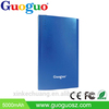 Guoguo 2500mAh Mobile Battery Charger Pack Polymer Ultra Thin Portable Metal Power Bank for iphone7