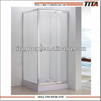 Adjustable shower enclosure