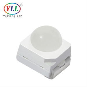0.1w 60 degree red yellow 2000-2500mcd 3528 dome smd led Lens