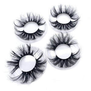 Lashes factory 100% cruelty free luxury 25mm 3d mink eyelashes vendor