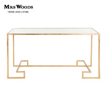 High Glossy Metal Frame Glass Top Console tables