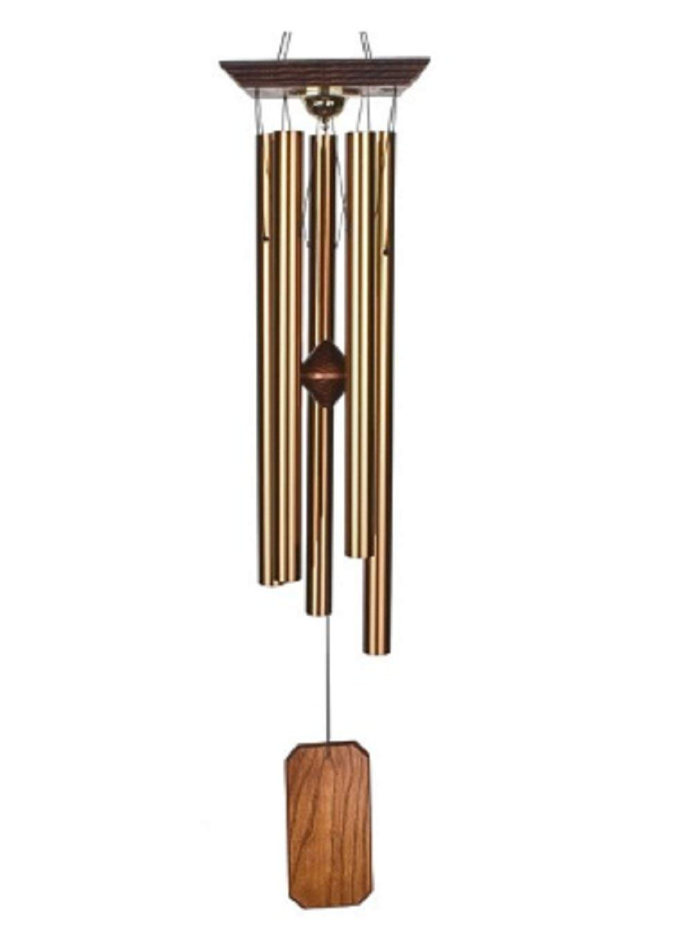 MyEasyShopping Large Bronze Memorial Reflections Chime Outdoor Garden Wind Chime Inspirational Collection Chimes Reflections Urn Bronze Outdoor Garden Wind Hanging Decoration