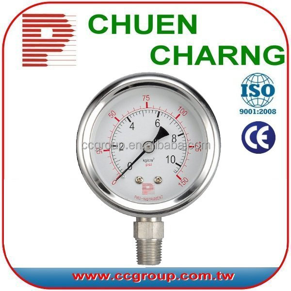 Stainless steel en 837-1 wika model pressure gauge
