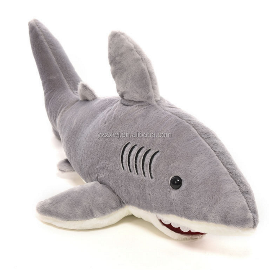 Great White Plush Ocean Shark Stuffed Animal Sea Toy Fish Doll Gray