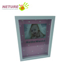 Baby handprint and footprint frame baby photo frame for new year gift sets