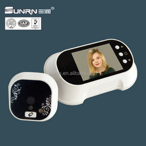 Doorbell sound electronic door eye digital door viewer peephole