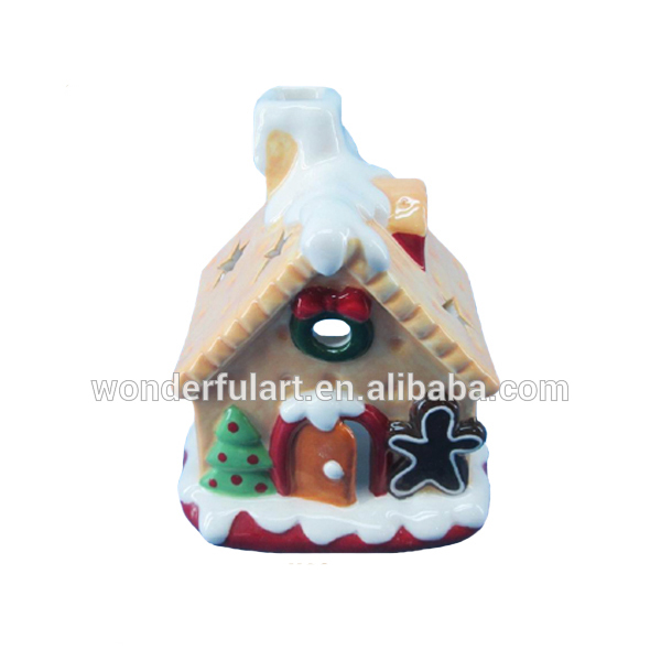 new design lighted ceramic gingerbread house