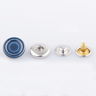 Fashion custom made brass metal cap ring prong snap button for jacket