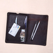 New Arrived! Causal Style Dark Brown Genuine Horse leather Sleeve For iPad mini With Card Slots