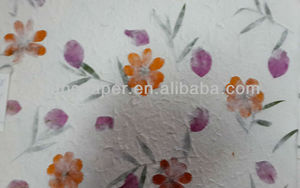 handmade paper mulberry saa paper with flower petals and leaves