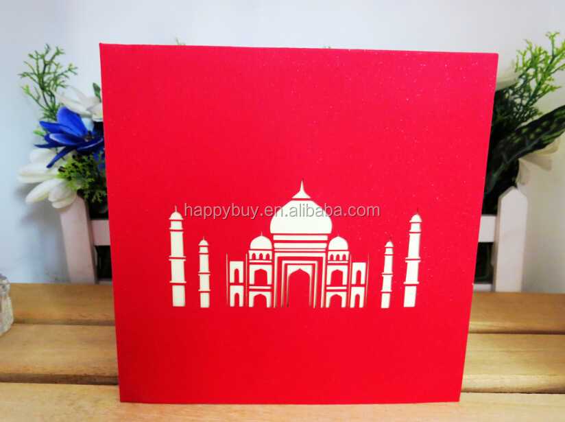 Taj Mahal 3D custom pop up building card
