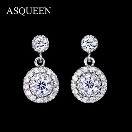 Cheap White Gold Diamond Stud Earrings