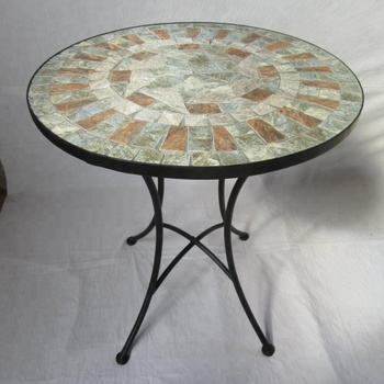 Antique Meubles De Luxe En Pierre/céramique Mosaïque Ronde Ensemble De  Table De Jardin - Buy Ensemble De Table En Mosaïque,Table Ronde En ...