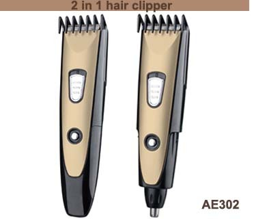 AE302 2in1 hair clipper nose trimmer