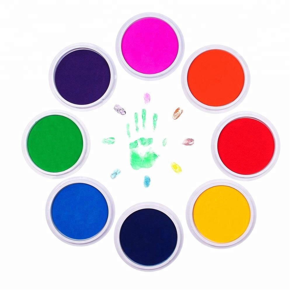 Manufacturers sell finger painting, safety ink footprint and handprint large size round DIY cleaning touch ink pad 160mm