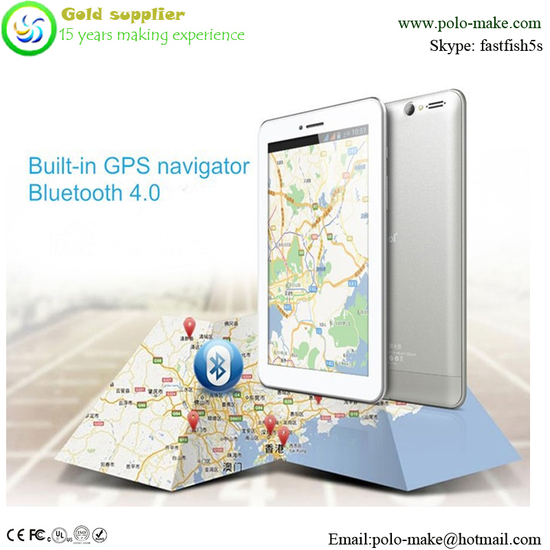 "GPS navigation in biult 7"" tablet PC,colorful support G-sensor tablet pc"