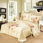 high quality 100% mulberry freehand silk printed bed sheet quilts bedding set