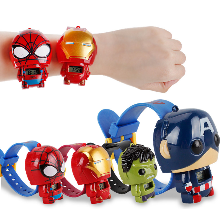 Fashion sport LED watch silicone iron man spider man watch digital watches super heroes original avengers watch фото