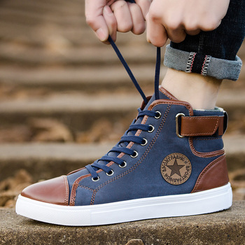 46d98e2ea578 2018 new model men casual shoes custom logo high ankle shoes for mens shoes  casual
