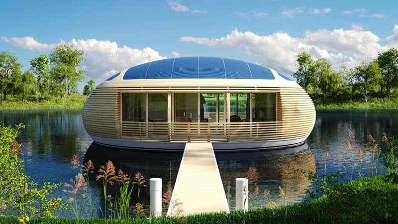 floating waternest modern designed floating hotel modula houst boat