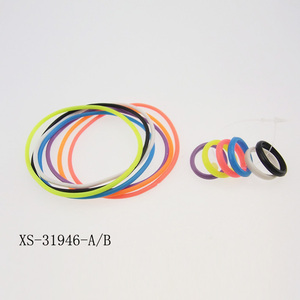 Colorful Energy Sport Silica Gel Charm Bracelet Thin Silicone Energy Wristband