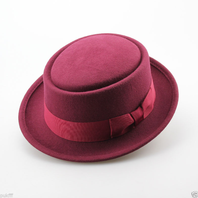 180e5dd5093 Get Quotations · Red 100-Wool-Felt-Pork-Pie-Crushable-Hat-BREAKING
