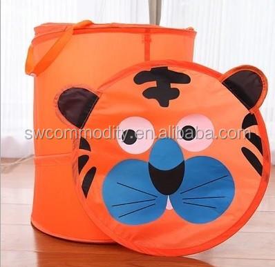Folding Animal Design Pop Up Laundry Hamper Basket Organizer ...