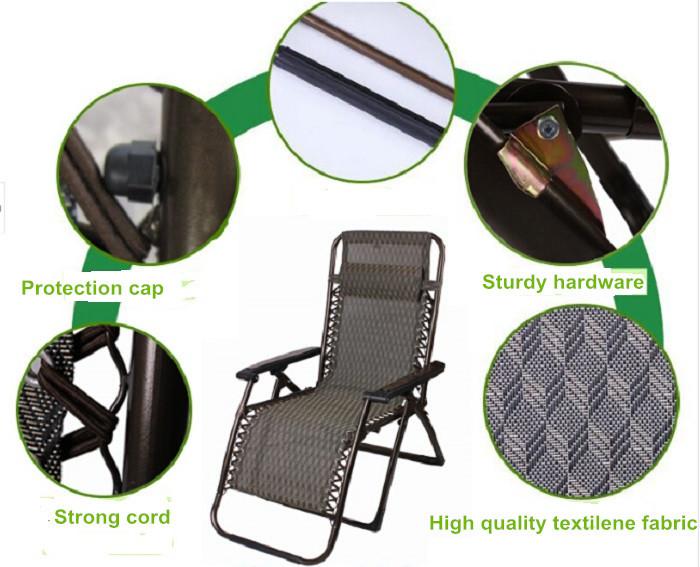Folding Camping Recliner Rocking Zero Gravity Outdoor