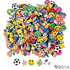 500 Piece Mini Eraser Assortment/SCHOOL/CLASSROOM/TEACHER Supplies/STATIONERY