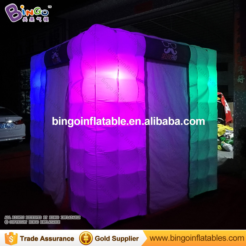 Hot sale portable inflatable photo cabin/inflatable cube tent/led inflatable photo booth